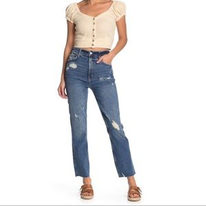 Free People High Waisted Straight Leg Jeans